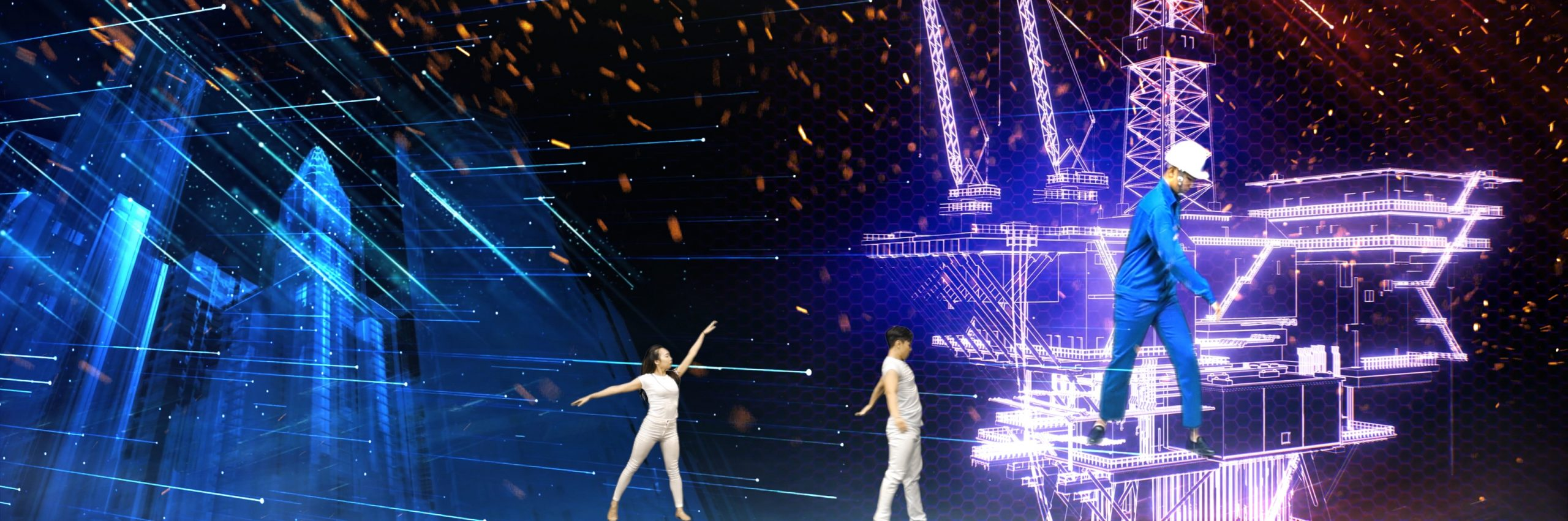 múa tương tác 3d hologram