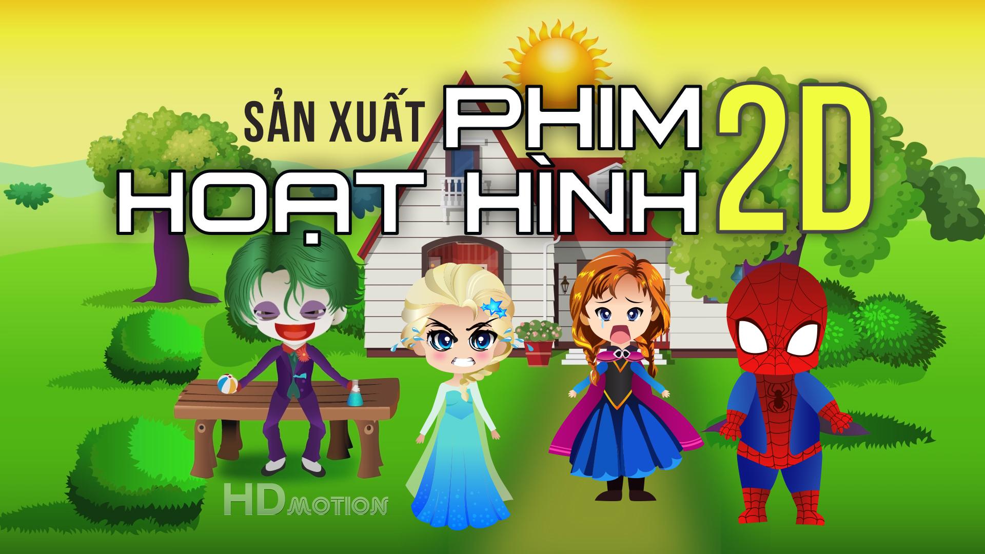 Liên hệ dịch vụ sản xuất phim hoạt hình 2d chuyên nghiệp